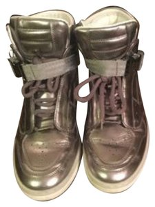 Louis Vuitton Surfside Varsity Classic Punchie High Top Silver Athletic