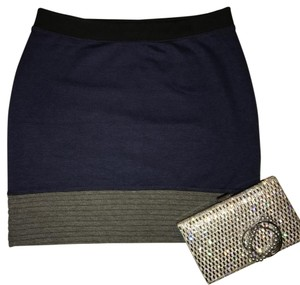 Simply Vera Vera Wang Mini Skirt Black, Blue, Gray