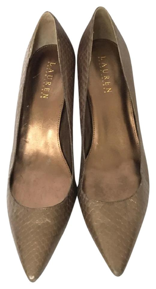 first rate coupon code usa cheap sale Metallic Brown Pumps