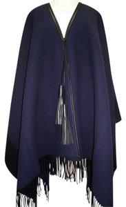Hermès Shawl Leather Pompons Cape