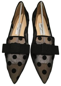 Jimmy Choo Pointed Toe Mesh Flats
