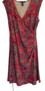 Ralph Lauren short dress red multi color on Tradesy
