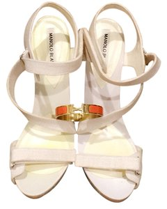 Manolo Blahnik white Platforms