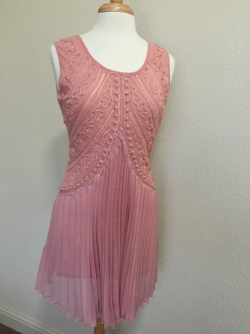 Other short dress Blush Pink Embellished Pleated Sheath Tunic on Tradesy