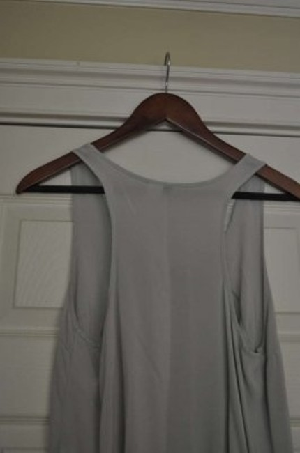 H&M Racer-back Diamond Rayon Top Coal Gray