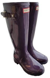 Hunter Brand New In Box Packable Lightweight Out Of Stock Purple Urchin Boots