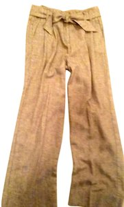 J. Jill Jjill Weekender Slacks Soft Slacks Size 8 Wide Leg Pants Flax Tweed Linen