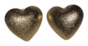 Fashion Gold Tone Heart Earrings