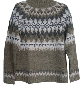 Rebecca Stone Fair Isle Tan & Brown Sweater