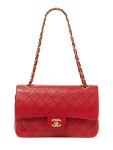 Chanel Vintage Flap Red Shoulder Bag