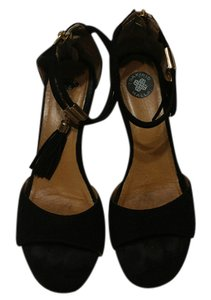 Tsakiris Mallas Wedge Heel Black Sandals