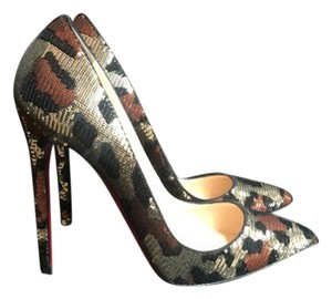 Christian Louboutin Multi Sequence /Snake Print Pumps