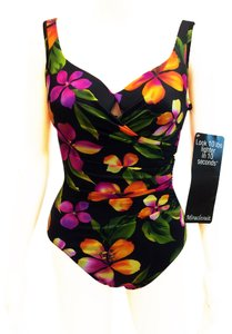 Miraclesuit MIRACLESUIT Floral Underwire Tummy Control One Piece Swimsuit sz 10