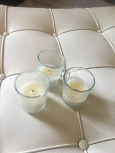 Pottery Barn Clear Set Of 6 Votive/Candle