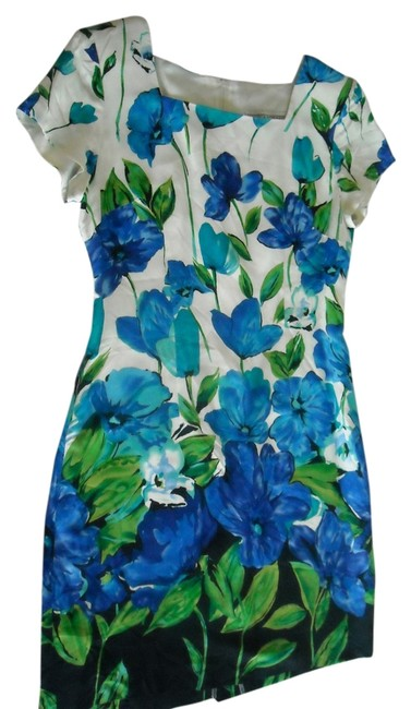 Preload https://item1.tradesy.com/images/jessica-howard-white-bluegreen-shades-knee-length-workoffice-dress-size-10-m-2038780-0-0.jpg?width=400&height=650