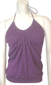 Victoria's Secret Bra Halter Gathered Neck Purple Halter Top
