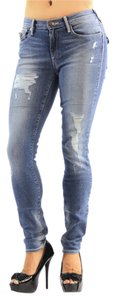True Religion Womens Clothing Womens Skinny Jeans-Distressed