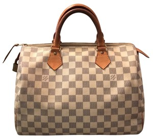 Louis Vuitton Satchel in white/blue