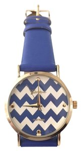 Geneva Blue Chevron Watch