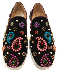 Christian Louboutin Boat Candy Spike Beaded Sneaker black Athletic