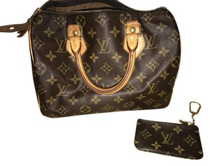 Louis Vuitton Monogram Canvas Speedy 25 Satchel in Brown and Tan