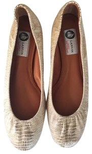 Lanvin aged gold Flats