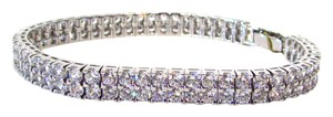 CRISLU Cubic Zirconia and Sterling Silver Tennis Bracelet