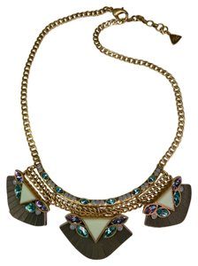 Silpada Statement necklace w. lether accent