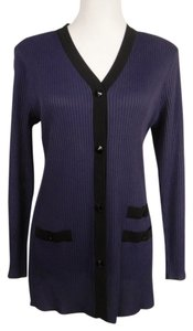 Misook V-neck Longsleeve Knit Stretchy Machine Washable Cardigan