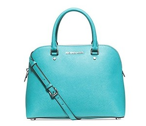 MICHAEL Michael Kors Cindy Med Satchel in Aquamarine