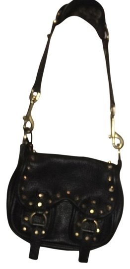 Alexis Hudson Leather Hand-made Studded Gold Unique Chain Chain Motorcycle Shoulder Bag