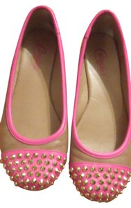 Candie's Pink/Camel Flats