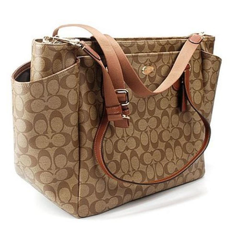 Coach Signature Khaki Saddle Diaper Bag 47 Off Retail