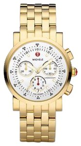 Michele $1600 NWT GOLD Sport Sail Dial Watch MWW01C000106