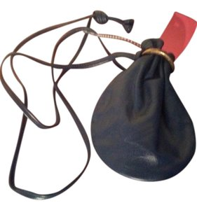 Other Vintage leather coin purse with long strap