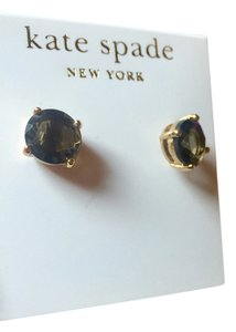 Kate Spade Kate Spade black and Gold Stud Round Earrings