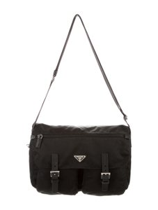 Prada Vela Black Messenger Bag