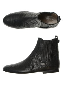 Balenciaga Leather Ankle Lambskin Designer black Boots