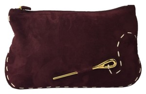 Moschino Burgundy Clutch