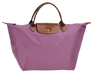 Longchamp Le Pliage Handheld Tote in Fig