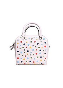 Tory Burch Satchel in Multi-color dots on White
