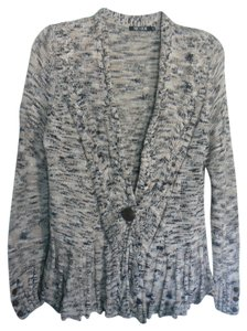 NIC+ZOE Lightweight Cardigan One-button Closure Multi-stitch Style Sweater