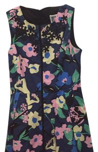 Anthropologie short dress Blue floral on Tradesy