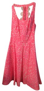 Lilly Pulitzer short dress Neon pink and white on Tradesy