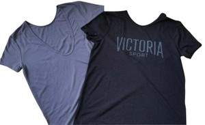 Victoria's Secret NEW 2x Victorias Secret sport Logo back yoga top tee T shirt set