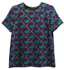Marc by Marc Jacobs Geometric Top Blue multi