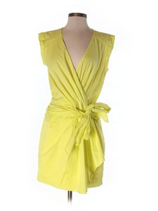 Cynthia Steffe short dress Yellow Midi on Tradesy