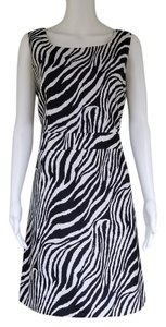 John Meyer of Norwich short dress Black and White Zebra Sheath Sleeveless on Tradesy