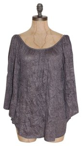 Anthropologie Sparkled Crincled Night Out Date Night Top GRAY