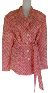 R&K Originals Tie Belt Floral Coral Jacket